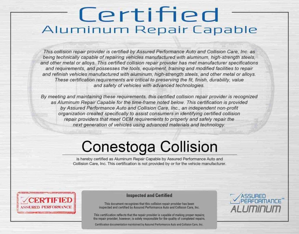 Certified-Aluminum-Repair